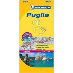 363. Puglia térkép Michelin 2016 1:200 000