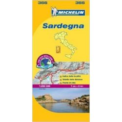 366. Szardínia térkép Michelin 1:200 000