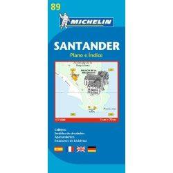89. Santander térkép Michelin 1:7 000