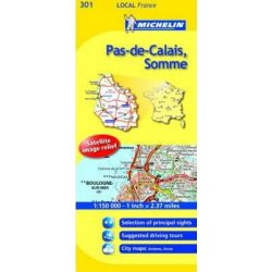 Local Maps Pas-de-Calais / Somme térkép  0301. 1/150,000