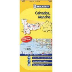 303. Calvados / Manche térkép  0303. 1/150,000