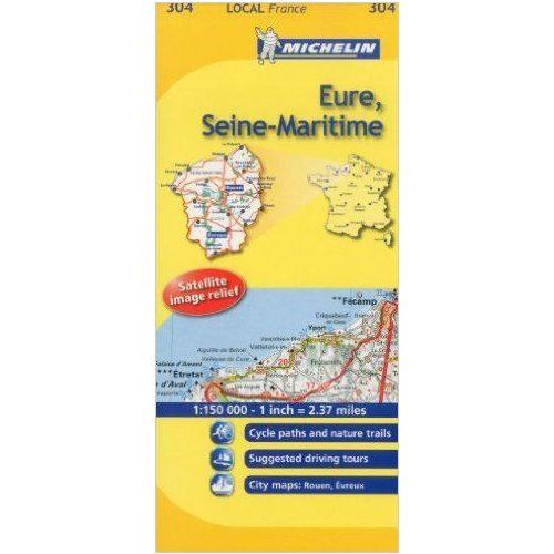 Eure / Seine-Maritime térkép  0304. 1/175,000