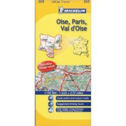 Oise / Paris / Val-D'Oise térkép  0305. 1/150,000