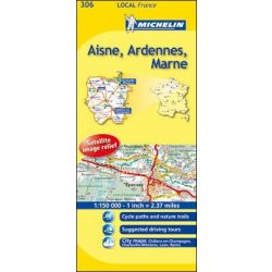 306. Aisne / Ardennes / Marne térkép  0306. 1/180,000