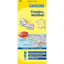 Finistere / Morbihan térkép  0308. 1/175,000