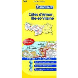 Cote D'Armor / Ille-et-Vilaine térkép  0309. 1/150,000