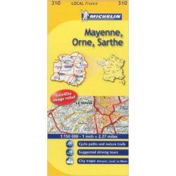 Mayenne / Orne / Sarthe térkép  0310. 1/175,000