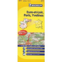 Eure-et-Loir / Paris / Yvelines térkép  0311. 1/150,000