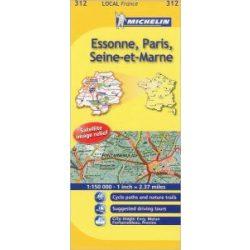 Essonne / Paris / Seine-et-Marne térkép  0312. 1/150,000