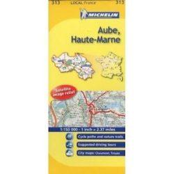 313. Aube / Haute-Marne térkép  0313. 1/150,000