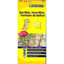 315. Bas-rhin, Haut-rhin, Territoire De Belfort Map térkép Michelin 1:150 000
