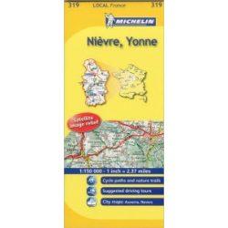 Nievre / Yonne térkép  0319. 1/150,000