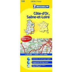 Cote D'Or / Saone-et-Loire térkép  0320. 1/175,000