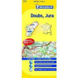 Doubs / Jura térkép  0321. 1/175,000