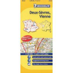Deux-Sevres / Vienne térkép  0322. 1/150,000