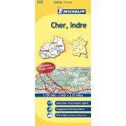 323. Cher / Indre térkép  0323. 1/150,000