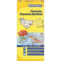 324. Charente / Charente-Maritime térkép  0324. 1/150,000