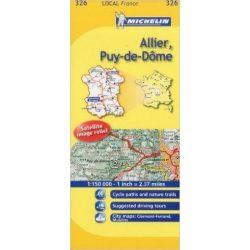 326. Allier / Puy-de-Dome térkép  0326. 1/150,000