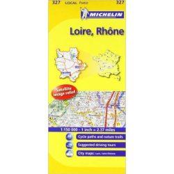 327. Loire, Rhone térkép Michelin 1:150 000
