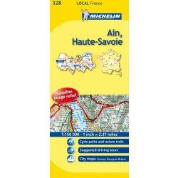 328. Ain / Haute-Savoie térkép  0328. 1/150,000