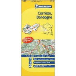 329. Correze / Dordogne térkép  0329. 1/175,000