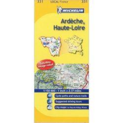 331. Ardéche Haute-Loire térkép Michelin 1:150 000