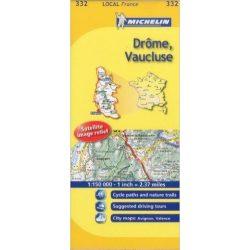 332. Drome, Vaucluse térkép Michelin 1:150 000