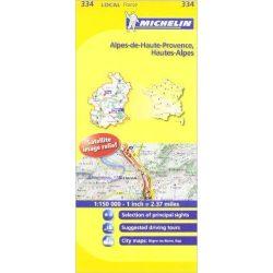334. Alpes de Haute Provence térkép, Hautes Alpes térkép Michelin 1:150 000