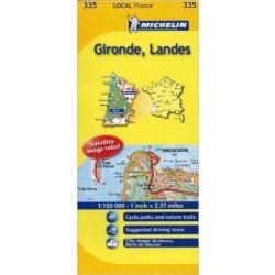 335. Gironde térkép Michelin 1:150 000