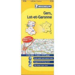 336. Gers, Lot-et-Garonne térkép Michelin 1:150 000