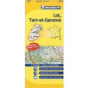 337. Lot, Tarn-et-Garonne térkép Michelin 1:150 000