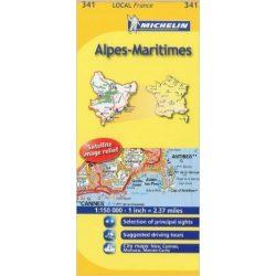 341. Alpes-Maritimes térkép Michelin 1:150 000