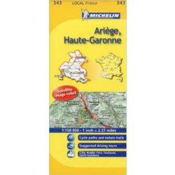 343 Ariége, Haute Garonne térkép Michelin 1:150 000
