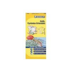 344. Aude Pyrénées-Orientales térkép Michelin 1:150 000