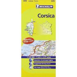345. Korzika térkép Michelin 1:150 000  2015