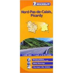 511. Észak-Franciaország Flandria, Artois, Picardi térkép Michelin 1:200 000