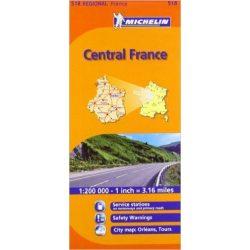 518. Közép-Franciaország térkép Michelin 2013 1:300 000