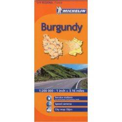 519. Burgundia térkép Michelin 1:200 000  2016