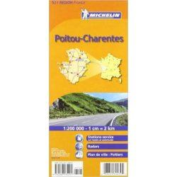 521. Poitou, Chareutes térkép Michelin 1:200 000