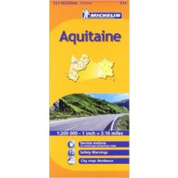 524. Aquitaine térkép Michelin 1:200 000