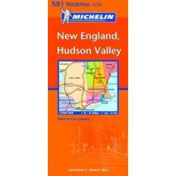 581. New England térkép Michelin 1:500 000