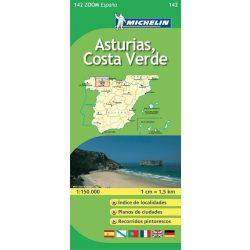 142. Asturias, Costa Verde térkép  0142. 1/150,000