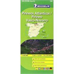 144. Pirineos Atlanticos, Vasco-Navarro térkép Michelin 1:150 000