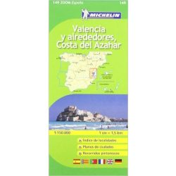 149. Valencia y alrededores térkép Michelin 1:150 000