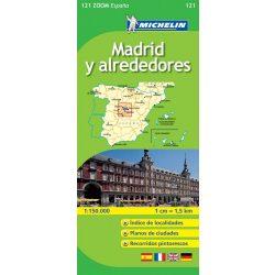 121. Alrededores de Madrid  térkép  0121. 1/170,000