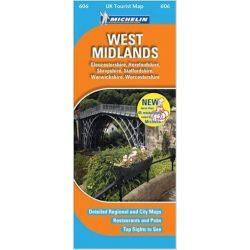 West Midlands térkép  0606. 1/400,000