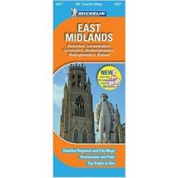 607. East Midlands térkép Michelin 1:400 000