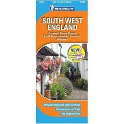 608. South West England térkép Michelin 1:400 000