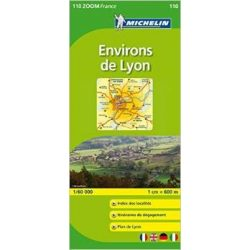 110. Lyon környéke térkép Michelin 1:60 000