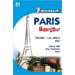 Paris Transport térkép  0051. 1/20,000
